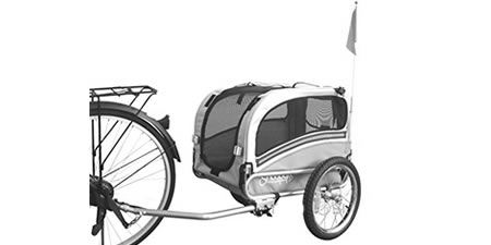 Dog bicycle trailer GENERIC CARRELLINO CANE